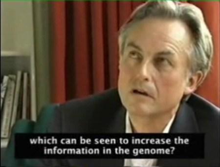 리처드 도킨스 - 유전 정보 증가 질문에 침묵 - 정의를 왜곡