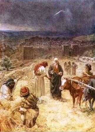 다윗이 이스라엘 백성들의 인구 조사를 하는 모습