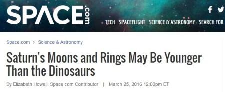 토성의 위성과 고리는 공룡보다 젊을수 있다 - 젊은 지구의 증거