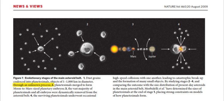 행성 형성의 과정을 모름 - 네이쳐 반지성주의자