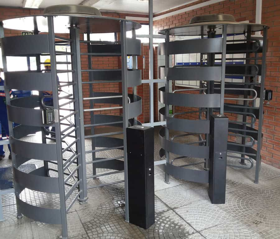 Full Height Rotor Turnstile Powered over Ethernet