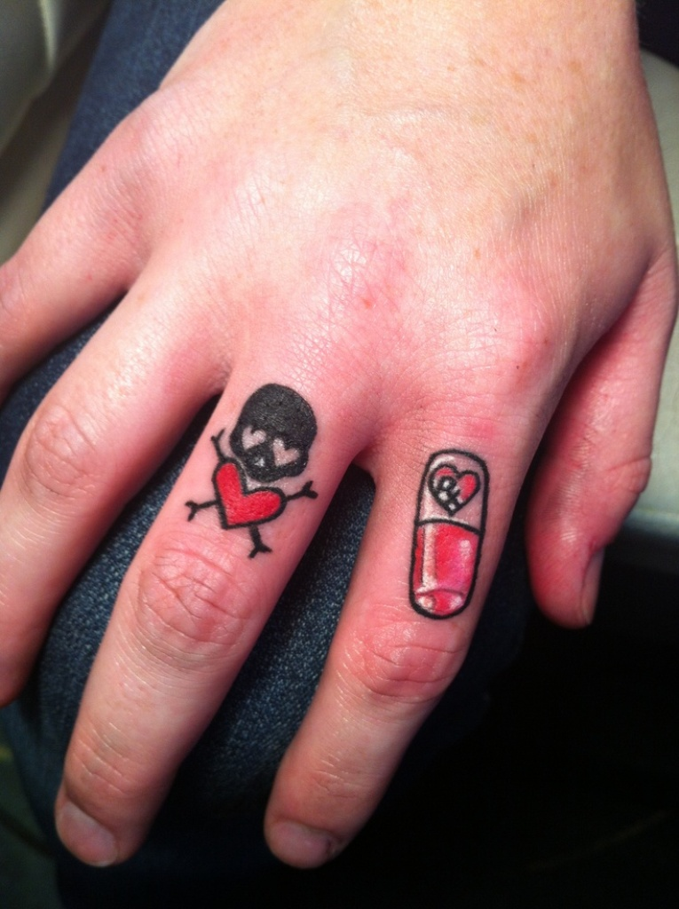 Skull Finger Tattoos : skull, finger, tattoos, Sugar, Skull, Tattoos, Design, Finger