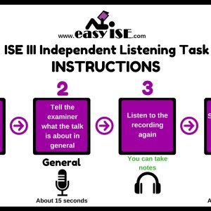 ISE III Independent Listening Task Instructions