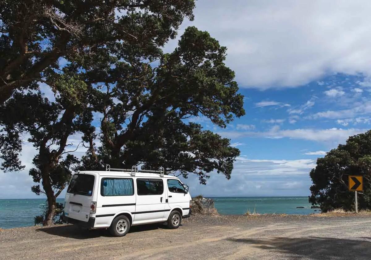 Van on the Coromandel Peninsula