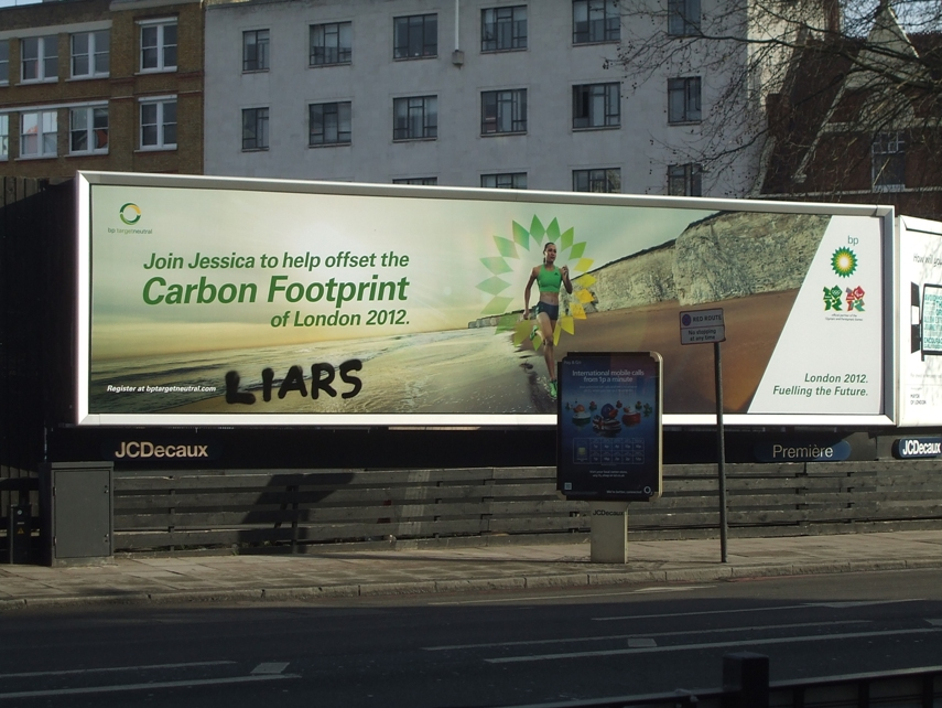Activists deface BP posters in London  Liberal Conspiracy