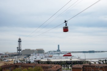 Cable car in Barcelona
