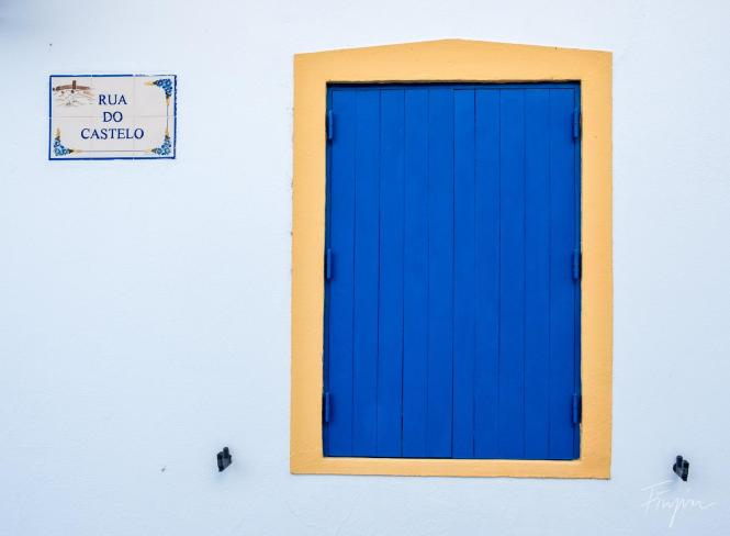 blue yellow window portugal