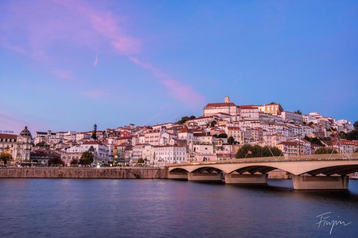 river reflection portugal sunset