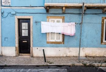 lisbon facade clothes blue