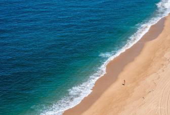 Nazare beach girl