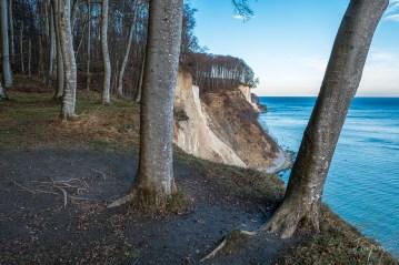 Felsküste auf Rügen bei Sonnenuntergang