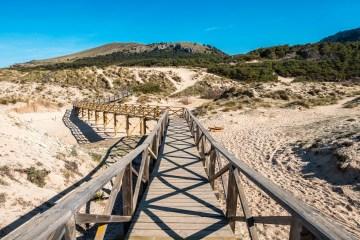 Footbridge over the dunes of North-Mallorca