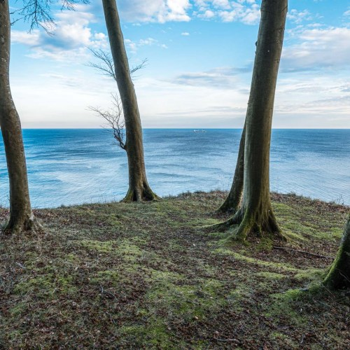 View over the baltic sea from a cliff in the Jasmund National Park on the island of Ruegen