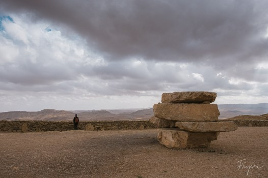 A lookout in Mitzpe Ramon on a cloudy day