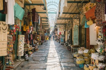 A colourful alley in the old Town of Jerusalem