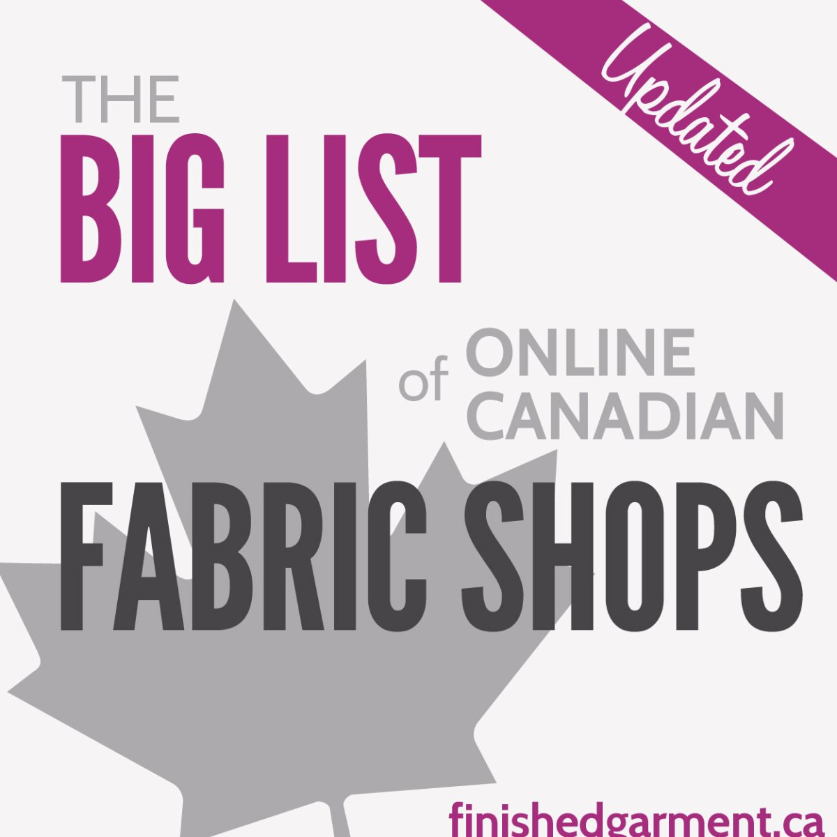 The Big List of Online Canadian Fabric, Pattern and Notion Stores