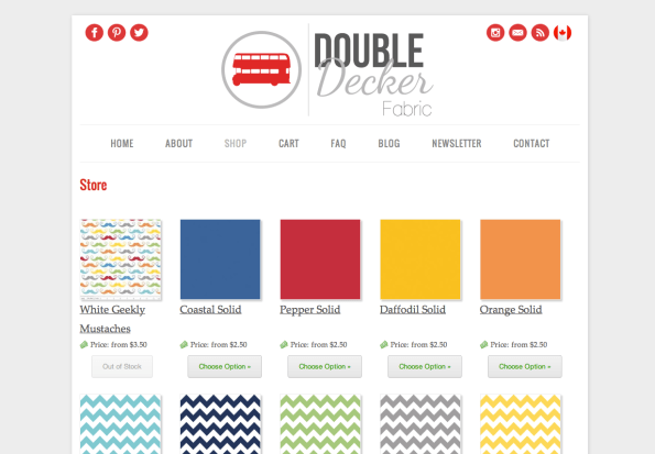 Double Decker Fabrics Screenshot