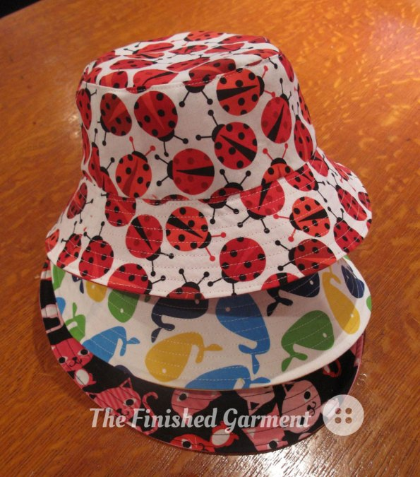 A pile of bucket hats.