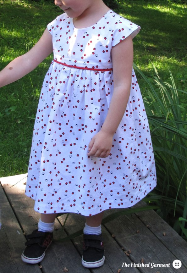 The Geranium dress from Made by Rae, as sewn by The Finished Garment, A Warp & Weft Sewing Society project.