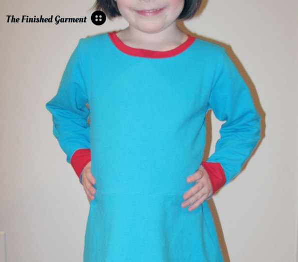 Little Girls' Skater Dress sewing pattern from Kitschy Coo, sewn by The Finished Garment.