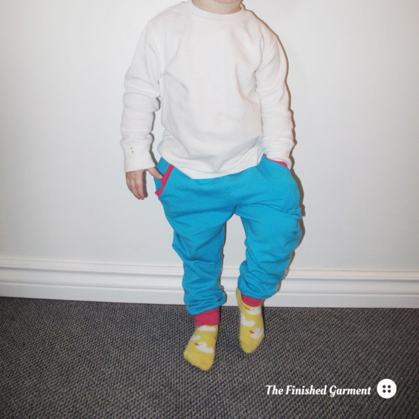 Mini Hudson Pant sewing pattern from True Bias as sewn by The Finished Garment.