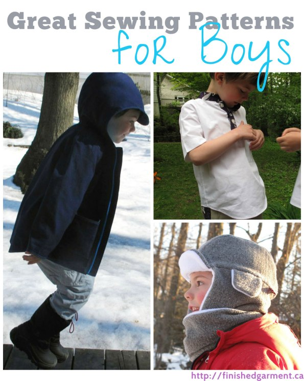 A list of great independent sewing pattern companies with patterns for boys.