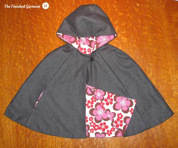 Red Riding cape from the book Little Things to Sew, as sewn by The Finished Garment.