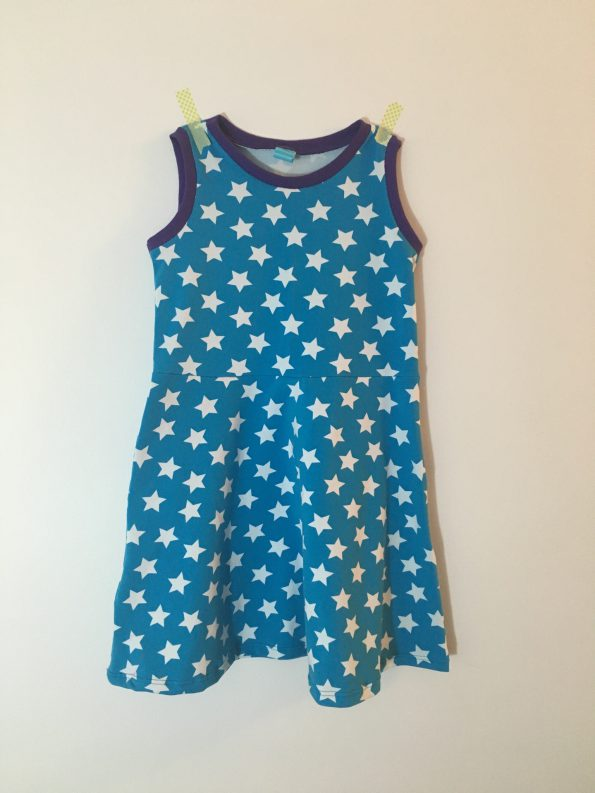 Little Girl Skater Dress sewing pattern by Kitschy Coo, as sewn by The Finished Garment