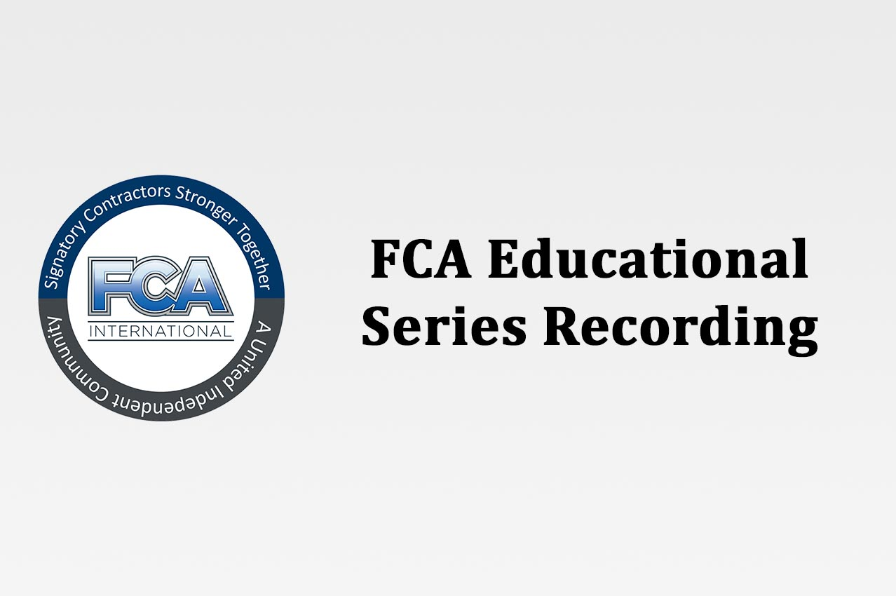 FCA Educational Series Recording - Withdrawal Liability and Your Business