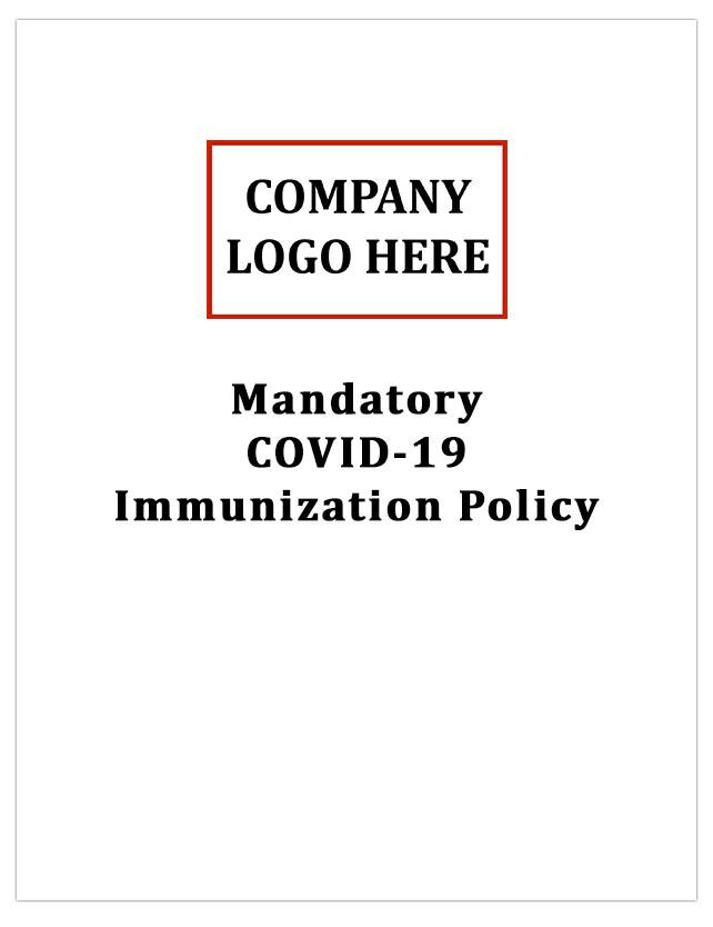 Mandatory COVID-19 Immunization Policy