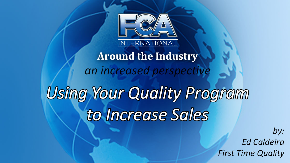 FCA News Header Image - Around the Industry - Quality Program and Sales