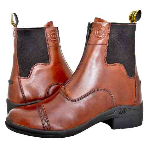 HW90400-CHO - Paddock Zip Boot - Pair Crossing (Square) 3