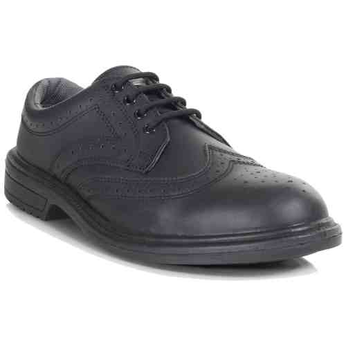 PB69-BLK - Executive Brogue Shoe - Right Angle (Square)