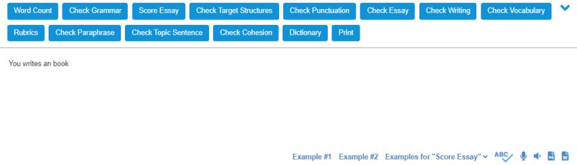 Virtual Writing Tutor Grammar Checker操作畫面