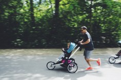 Famous Dutch guy that I don't know in action with the running stroller.