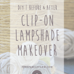 Diy Before After Clip On Lampshade Makeover Fink Family Farm