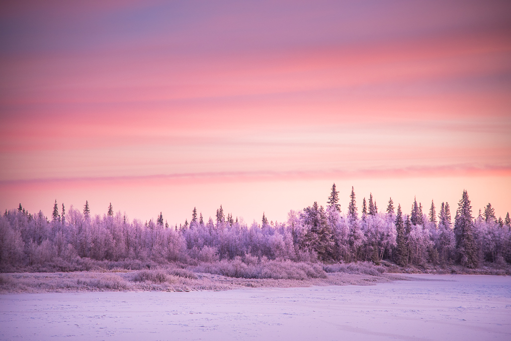pink skies and freezing