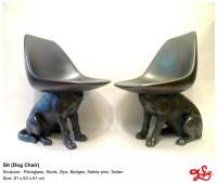Sit - Dog Chair - FINN STONE LTD +44 (0)20 8889 3856