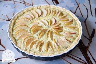 Apfel-Ziegenkäse-Tart ist fertig!