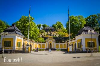 Was für ein Portal: der alte Eingang zum Freilichtmuseum