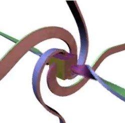 El sistema cubo+cintas que si gira 360º es diferente a la posición inicial