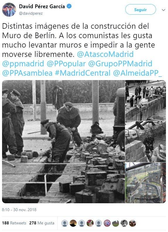 - A que no asocias el Muro de Berlín con lo que ha hecho Carmena en Madrid