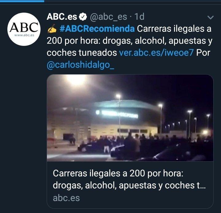 ABC recomienda carreras ilegales a 200 por hora, drojas, alcohol, apuestas y coches tuneados
