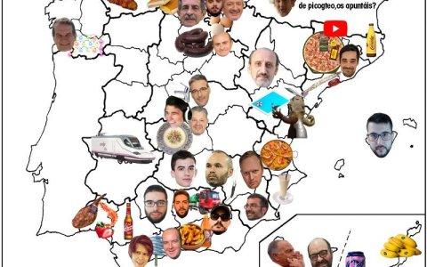 El mapa de España con lo mejor de cada provincia por los loles
