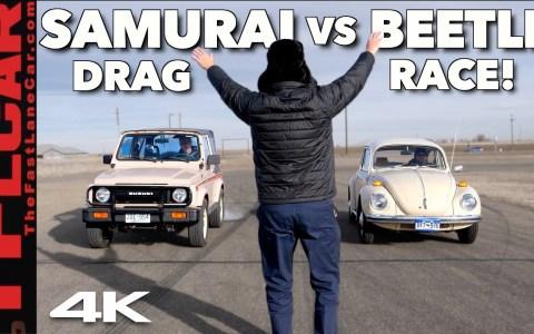 La Drag Race más lenta de la historia: Suzuki Samurai vs Volkswagen Super Beetle
