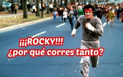 Rocky entrenando por las Barranquillas
