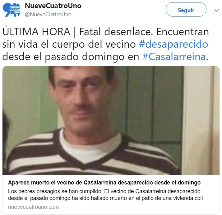 Portugués muere congelado en el patio de su casa en Casalarreina (La Rioja)