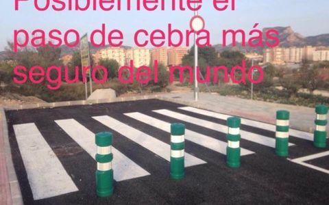El paso de cebra más seguro del mundo está en Elda (Alicante)