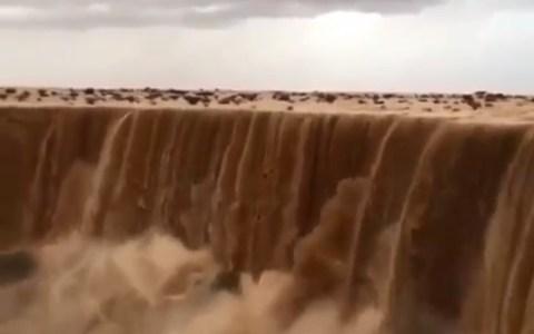 Las cascadas secas de Aflaj (Arabia Saudí)
