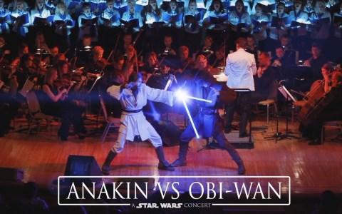 La mejor forma de ilustrar una orquesta que interpreta canciones de Star Wars